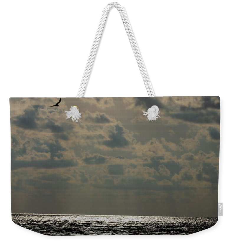 Sunset Weekender Tote Bag featuring the photograph Dusk Sets In by Barbara Bowen