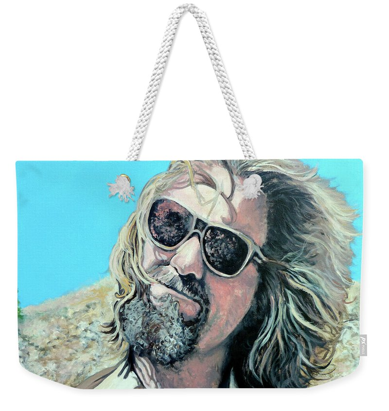 The Dude Weekender Tote Bag featuring the painting Dusted By Donny by Tom Roderick