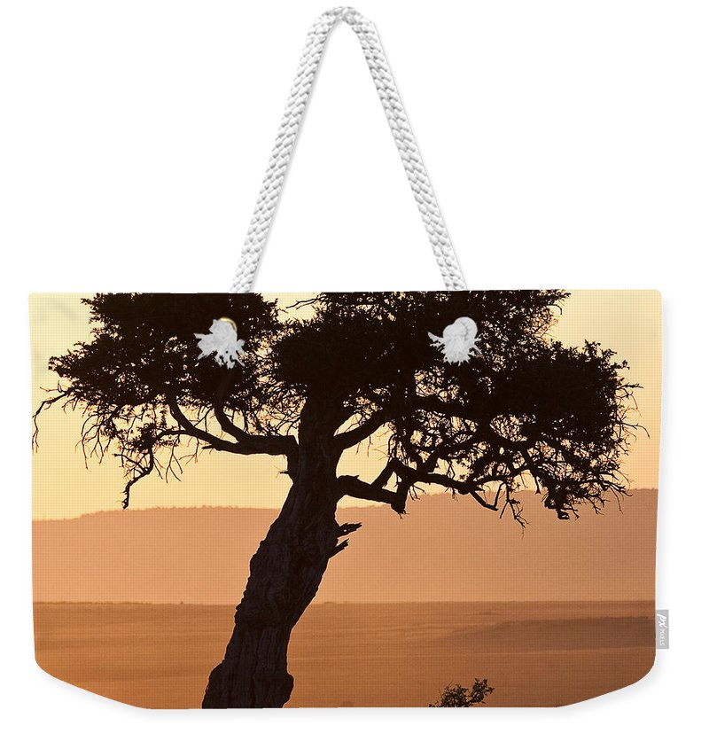 Africa Weekender Tote Bag featuring the photograph Dusty Sunset Over The Mara by Colette Panaioti