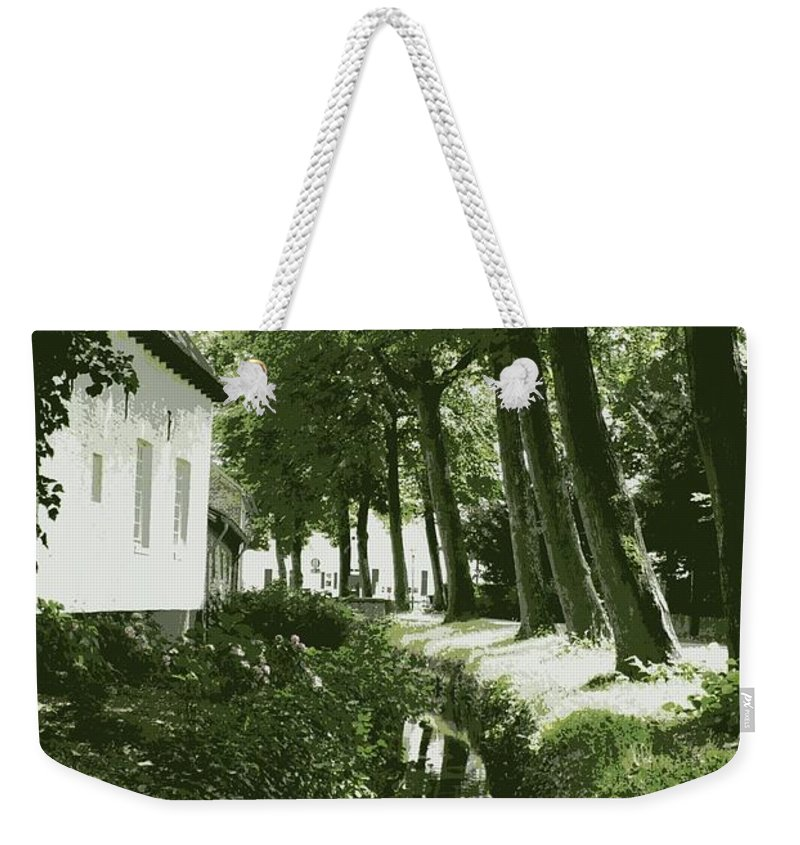 Dutch Weekender Tote Bag featuring the photograph Dutch Canal - Digital by Carol Groenen