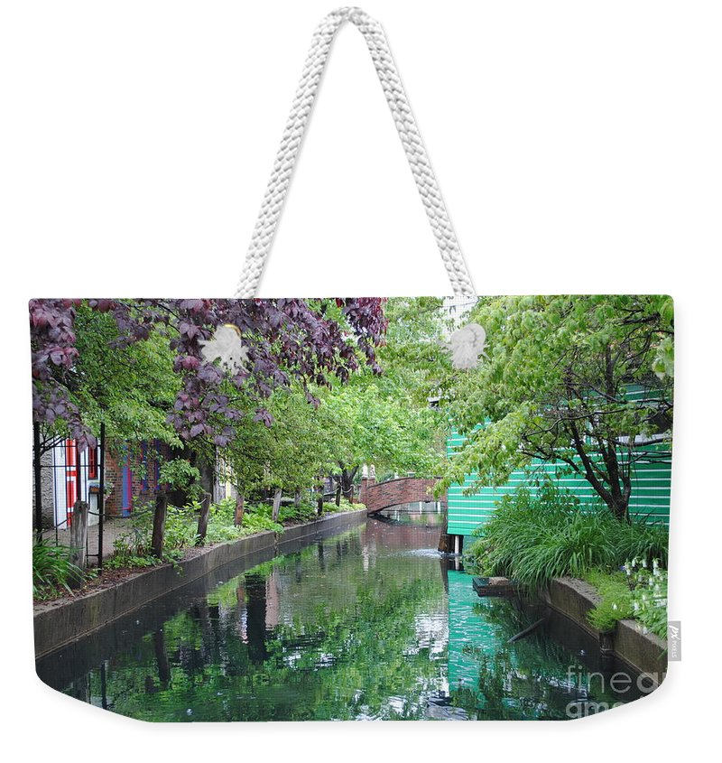 Dutch Weekender Tote Bag featuring the photograph Dutch Canal by Jost Houk