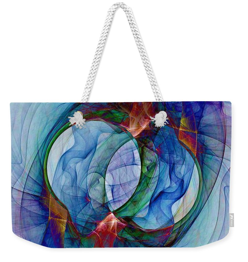 Dye Weekender Tote Bag featuring the digital art Dye In Solvent by Ron Bissett