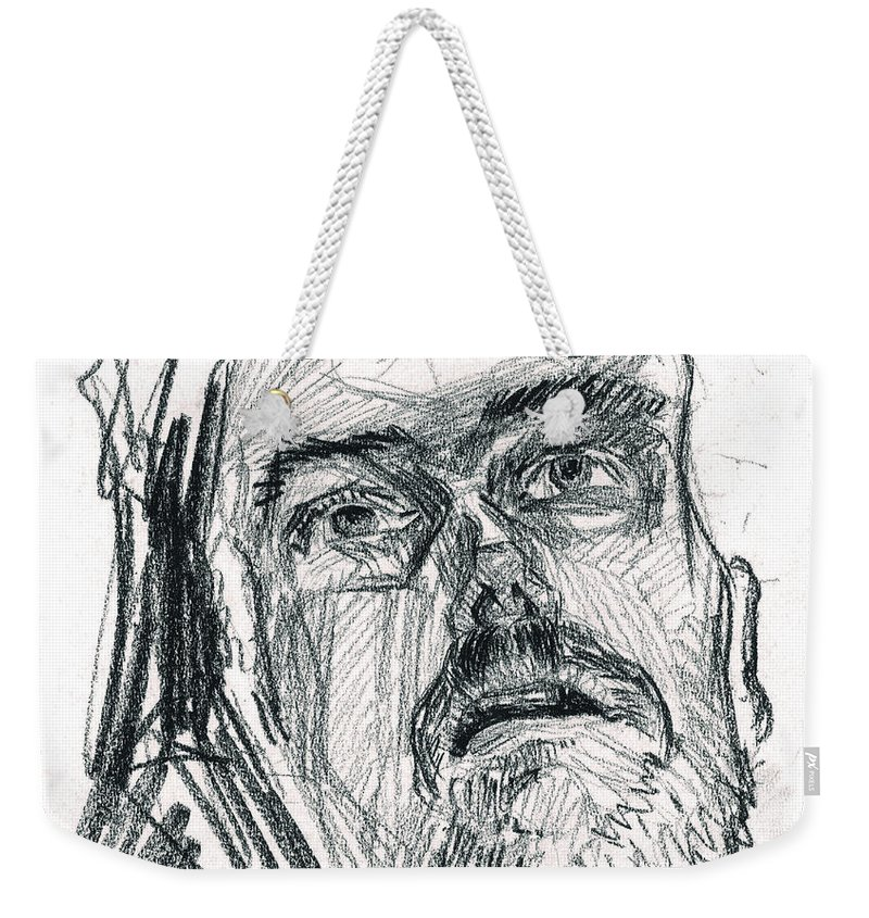 20th Century Art Weekender Tote Bag featuring the drawing Dying Soldier by Stephanie Hollenstein
