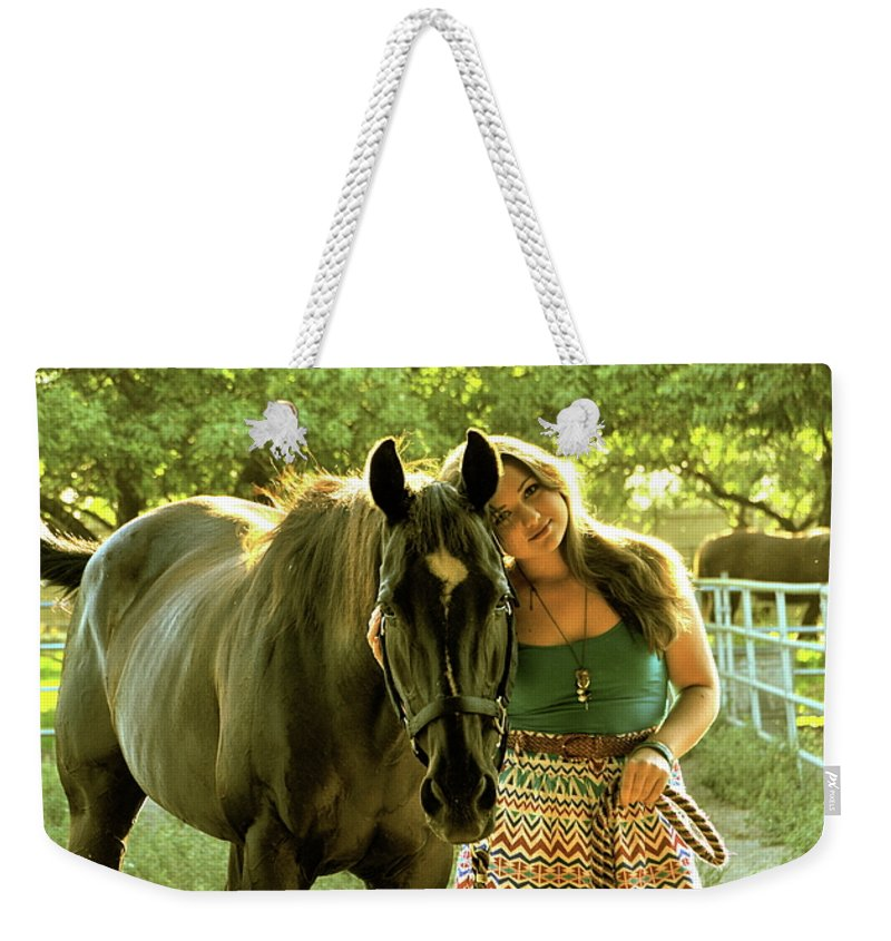 Horses Weekender Tote Bag featuring the photograph Dylly And Lizzy by Valerie Rosen