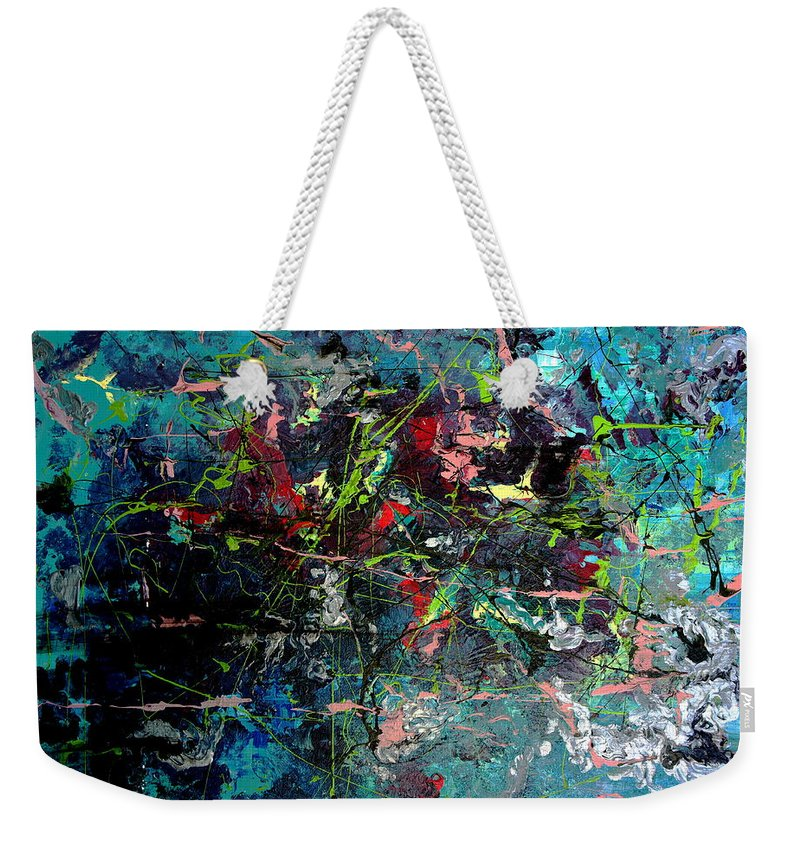 Australian Artist Weekender Tote Bag featuring the painting Dynamic Mind 1.0 by Giro Tavitian