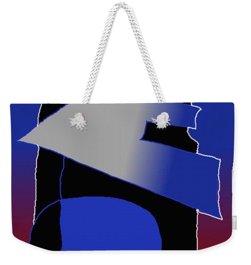 Eu Weekender Tote Bag featuring the digital art E-likes-eu by Helmut Rottler