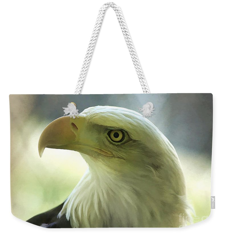 Eagle Weekender Tote Bag featuring the photograph Eagle Majesty by Deborah Benoit
