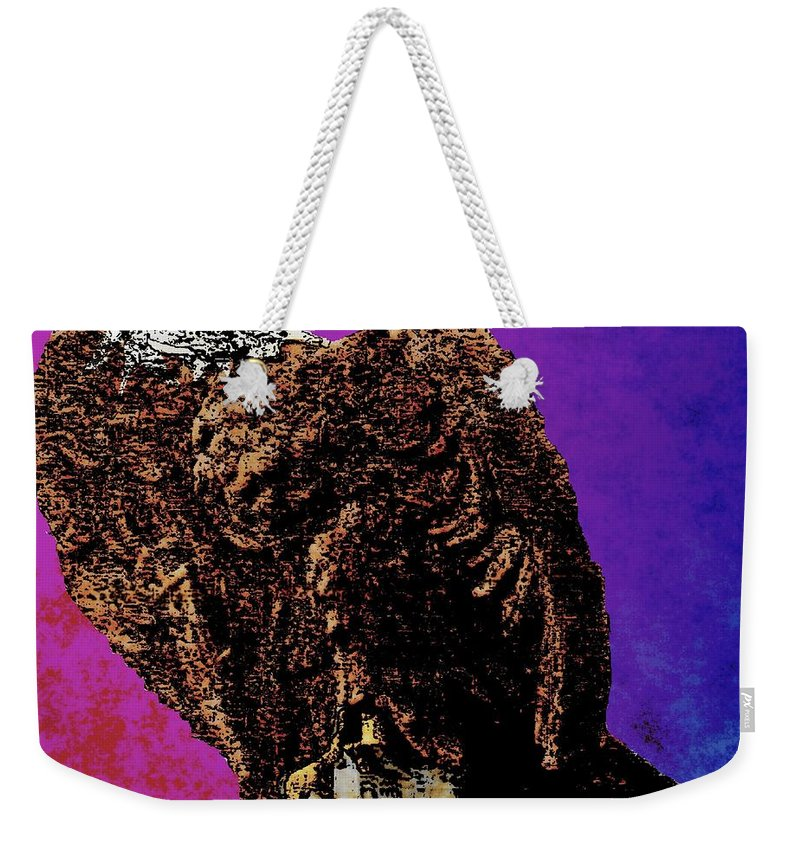 Wwi Weekender Tote Bag featuring the painting Eagle Of Wwi by Cliff Wilson