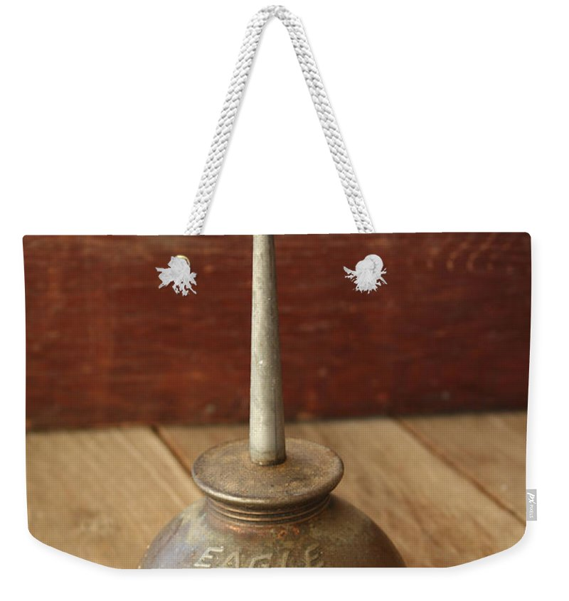 Tool Weekender Tote Bag featuring the photograph Eagle Oil Can by Marna Edwards Flavell