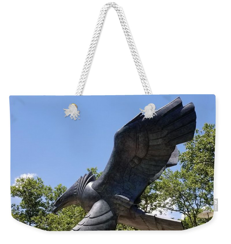 Abstract Art Weekender Tote Bag featuring the photograph Eagle Statue by Rob Hans