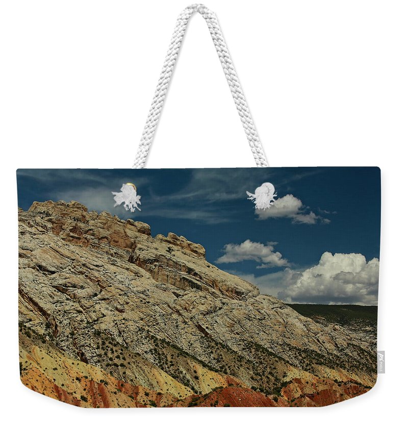 Desert Southwest Weekender Tote Bag featuring the photograph Eargth And Sky by Kurt Meredith