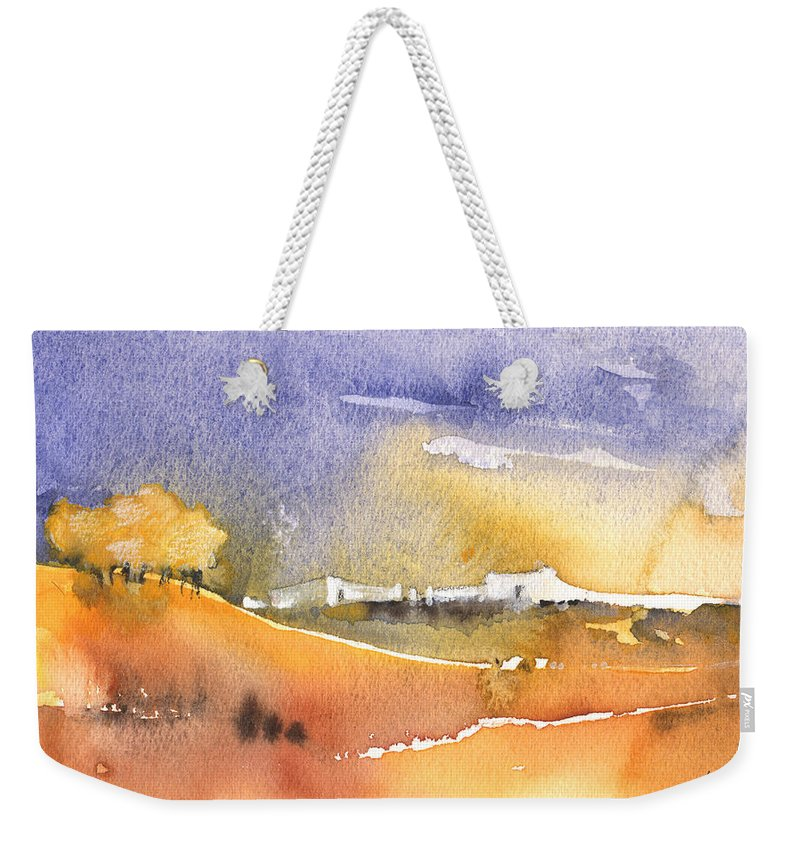 Landscape Weekender Tote Bag featuring the painting Early Afternoon 04 by Miki De Goodaboom