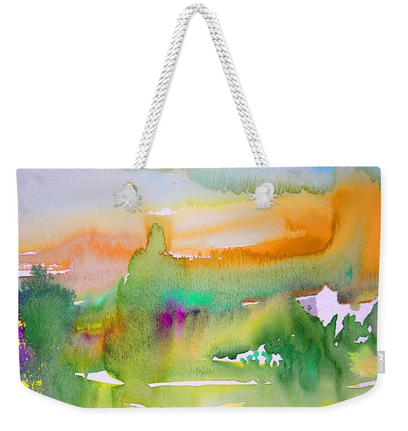 Landscape Weekender Tote Bag featuring the painting Early Afternoon 05 by Miki De Goodaboom