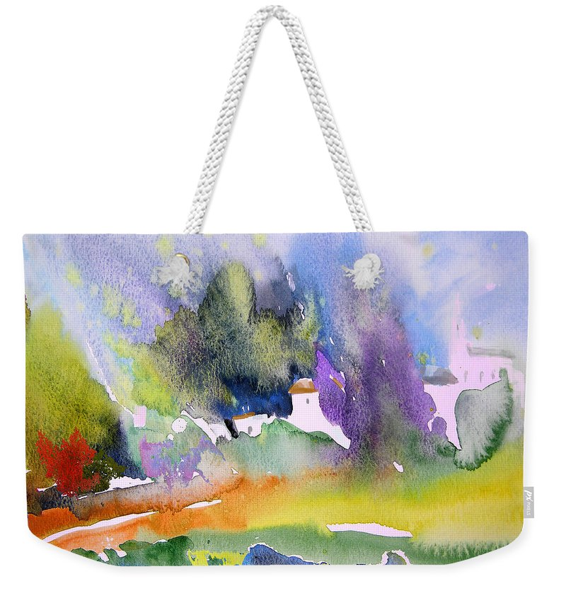Nature Weekender Tote Bag featuring the painting Early Afternoon 07 by Miki De Goodaboom