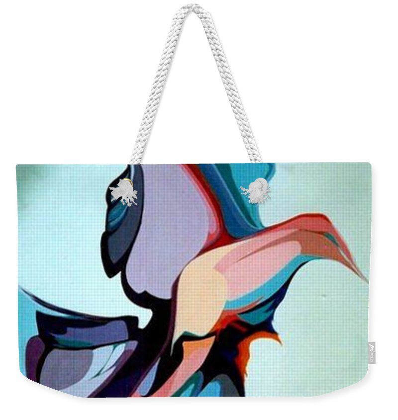 Birds Weekender Tote Bag featuring the painting Early Bird 10 by Marlene Burns
