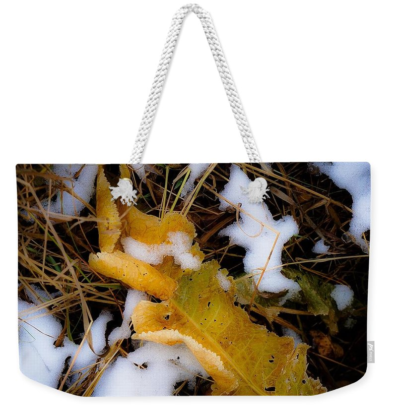 Fall Landscape Photograph Weekender Tote Bag featuring the photograph Early Bury No.3 by Desmond Raymond