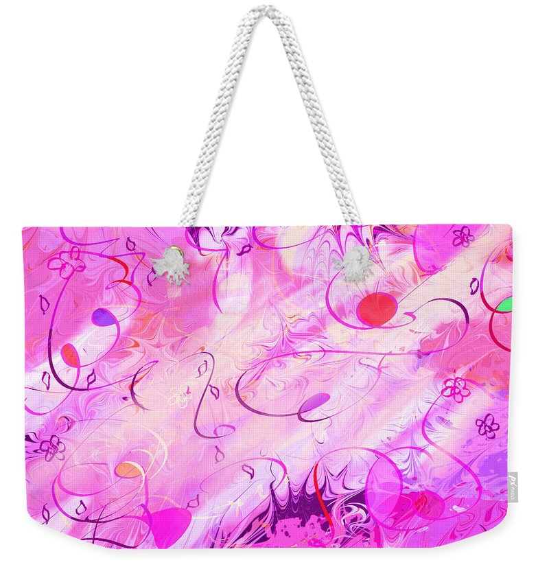 Abstract Weekender Tote Bag featuring the digital art Early Celebration by Rachel Christine Nowicki