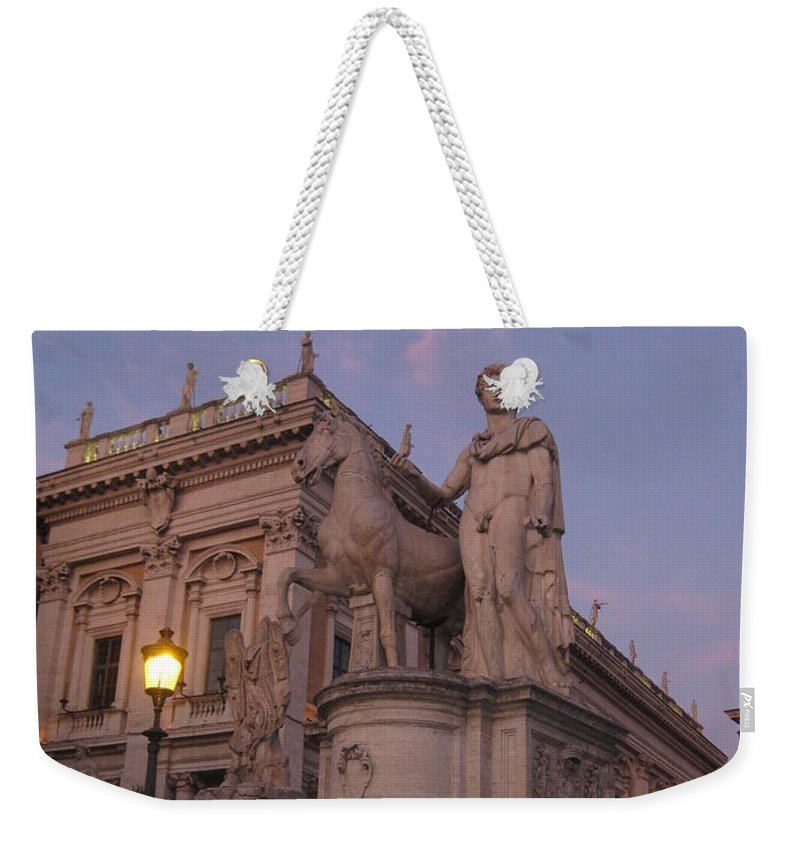 Sunset Weekender Tote Bag featuring the photograph Early Evening Rome Number Two by John Malone