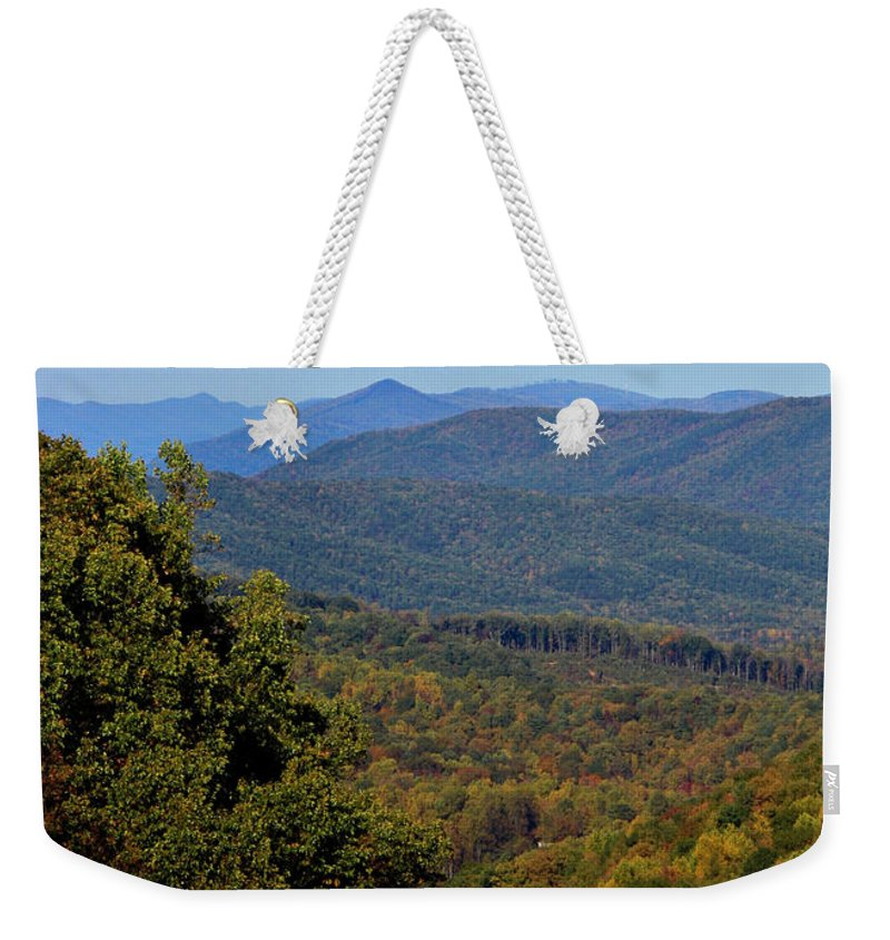 Fall Weekender Tote Bag featuring the photograph Early Fall In Virginia by Teresa Mucha