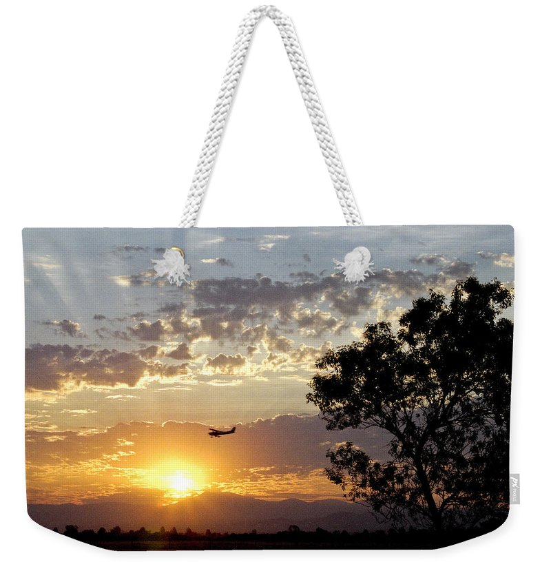 Airplane Weekender Tote Bag featuring the photograph Early Flying Lesson by Denise Dethlefsen