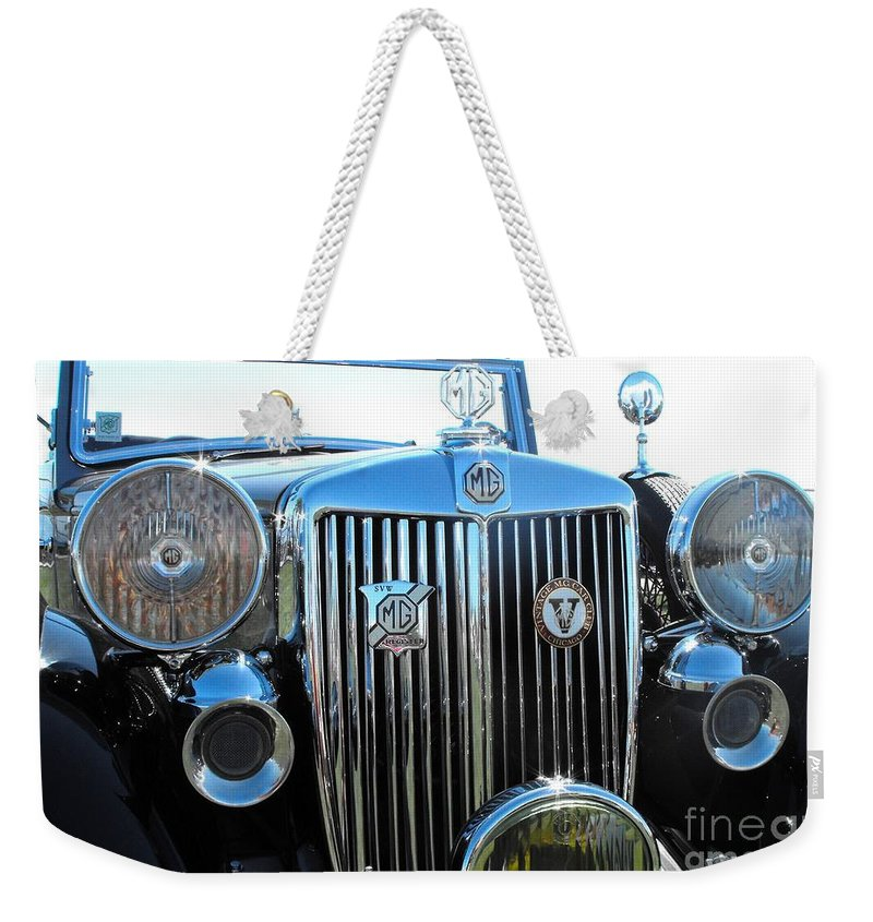 Mg Weekender Tote Bag featuring the photograph Mg Tickford by Neil Zimmerman