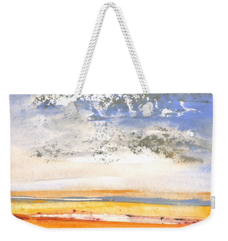 Landscapes Weekender Tote Bag featuring the painting Early Morning 27 by Miki De Goodaboom