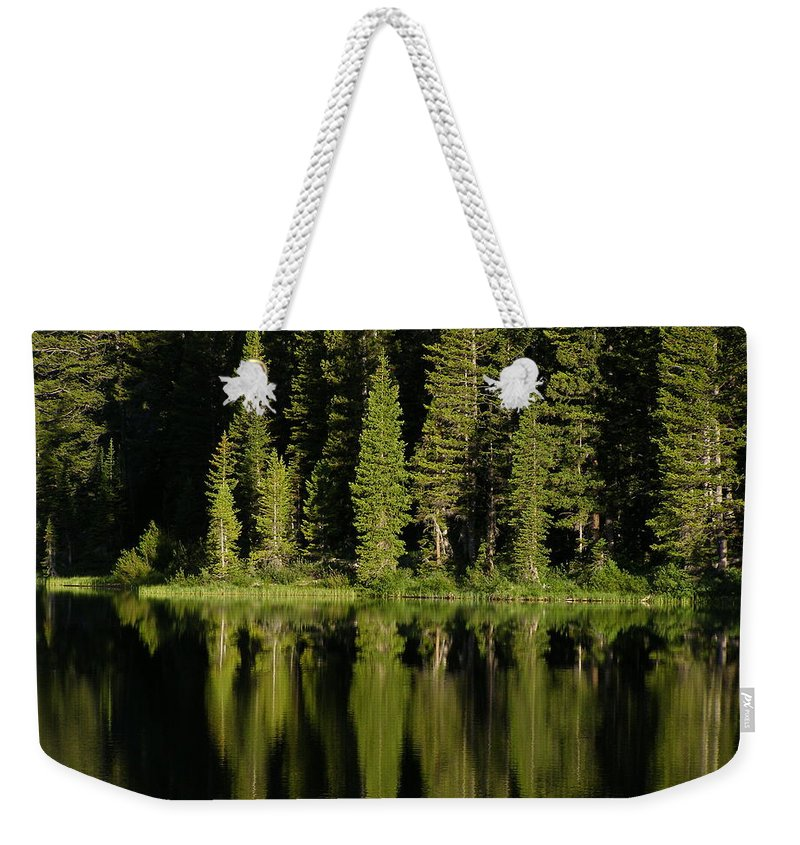 Lake Weekender Tote Bag featuring the photograph Early Morning At Barstow by DeeLon Merritt