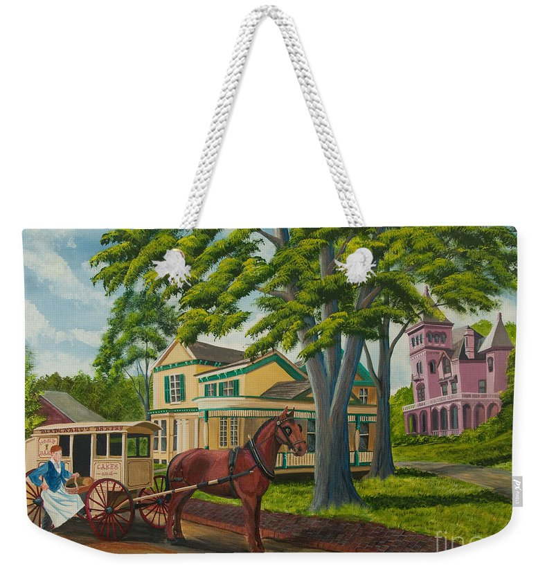Upstate New York Art Weekender Tote Bag featuring the painting Early Morning Delivery by Charlotte Blanchard