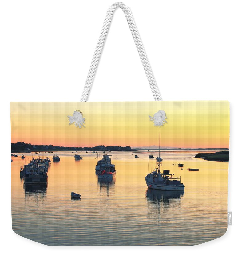 Chatham Weekender Tote Bag featuring the photograph Early Morning In Chatham Harbor by Roupen Baker
