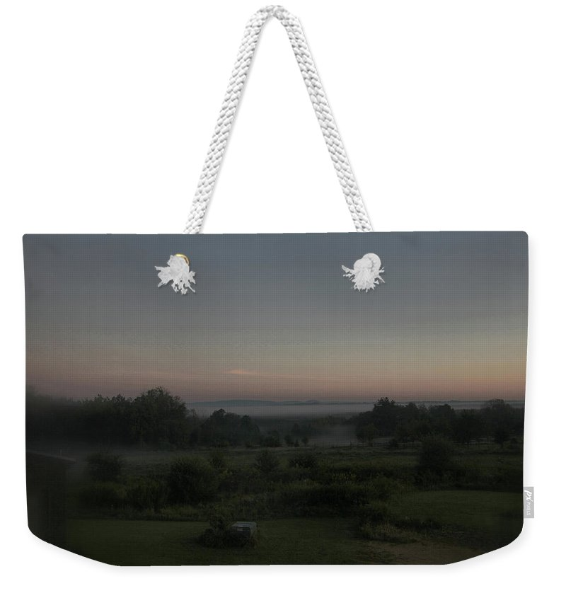 Landscapes Weekender Tote Bag featuring the photograph Early Morning Mist by Guy Ciarcia
