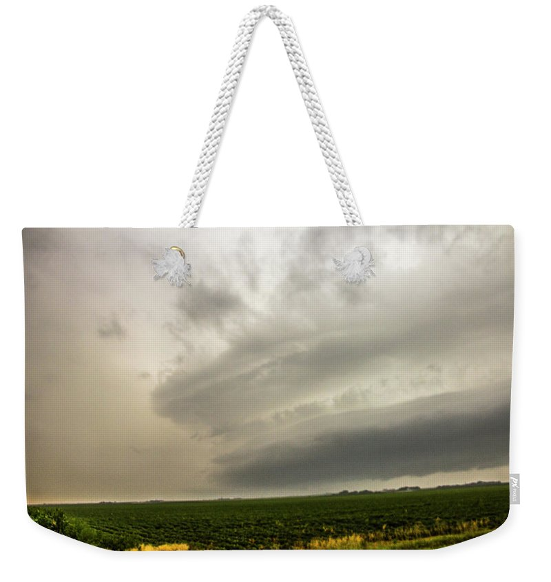 Nebraskasc Weekender Tote Bag featuring the photograph Early Morning Nebraska Storm Chasing 012 by NebraskaSC