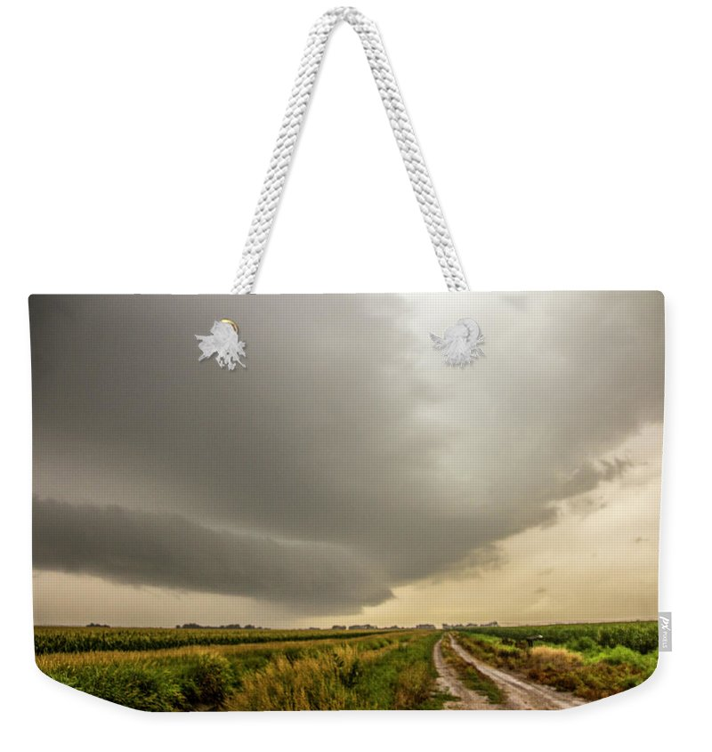 Nebraskasc Weekender Tote Bag featuring the photograph Early Morning Nebraska Storm Chasing 017 by NebraskaSC