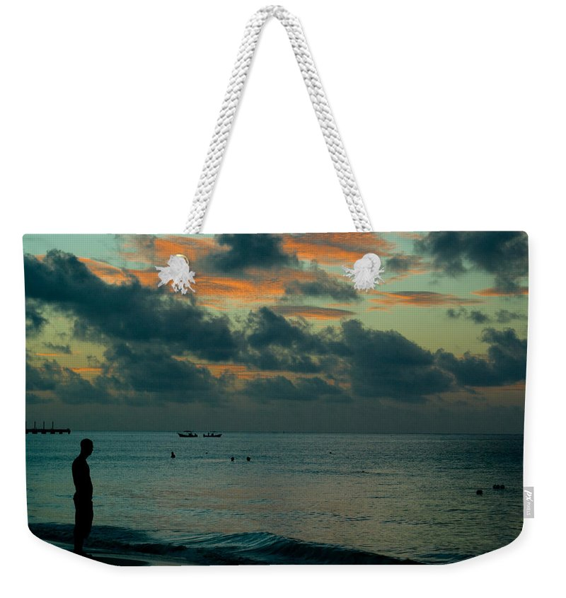 Sea Weekender Tote Bag featuring the photograph Early Morning Sea by Douglas Barnett