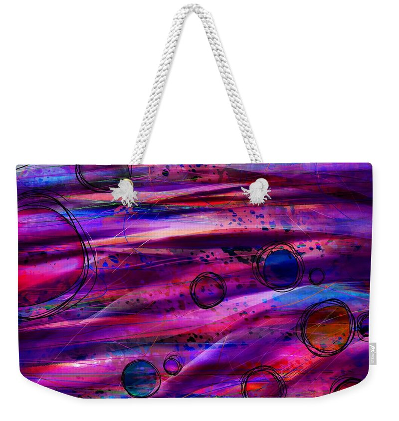 Abstract Weekender Tote Bag featuring the digital art Early Risers by Rachel Christine Nowicki