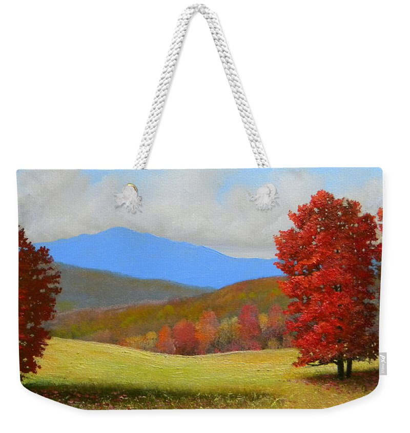 Autumn Weekender Tote Bag featuring the painting Early September by Frank Wilson