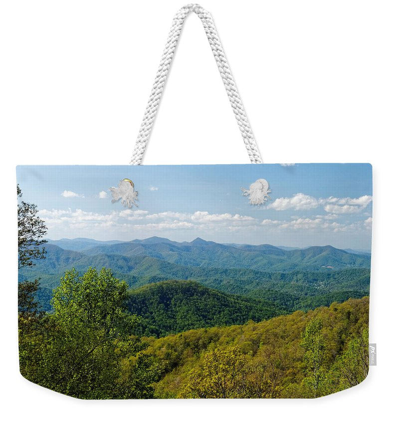 Landscape Weekender Tote Bag featuring the photograph Early Spring On The Blue Ridge Parkway by David Rowe