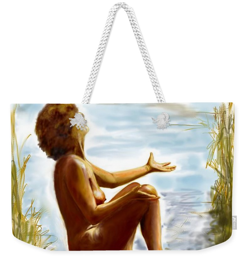 Lady Weekender Tote Bag featuring the digital art Early summer in bavaria by Helmut Rottler