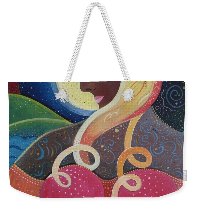 Angel Weekender Tote Bag featuring the painting Earth Angel by Helena Tiainen