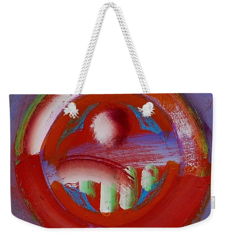 Love Weekender Tote Bag featuring the painting Earth Button by Charles Stuart