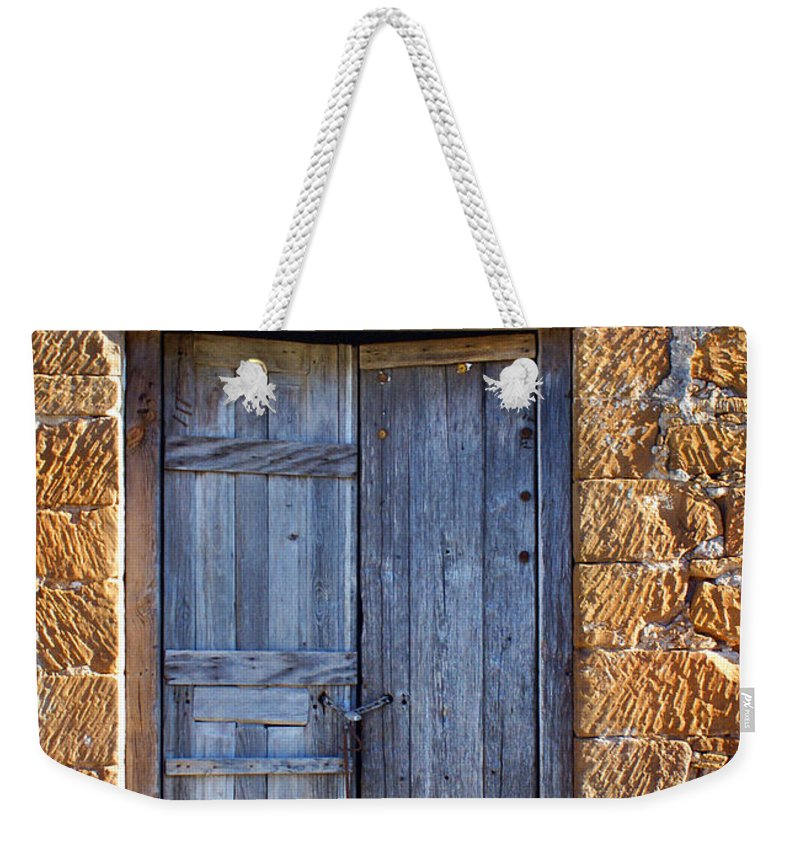 Door Weekender Tote Bag featuring the photograph Earthen Colors by Marilyn Hunt