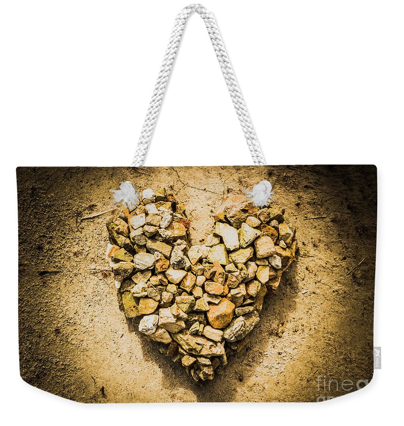 Heart Weekender Tote Bag featuring the photograph Earthly Togetherness by Jorgo Photography - Wall Art Gallery