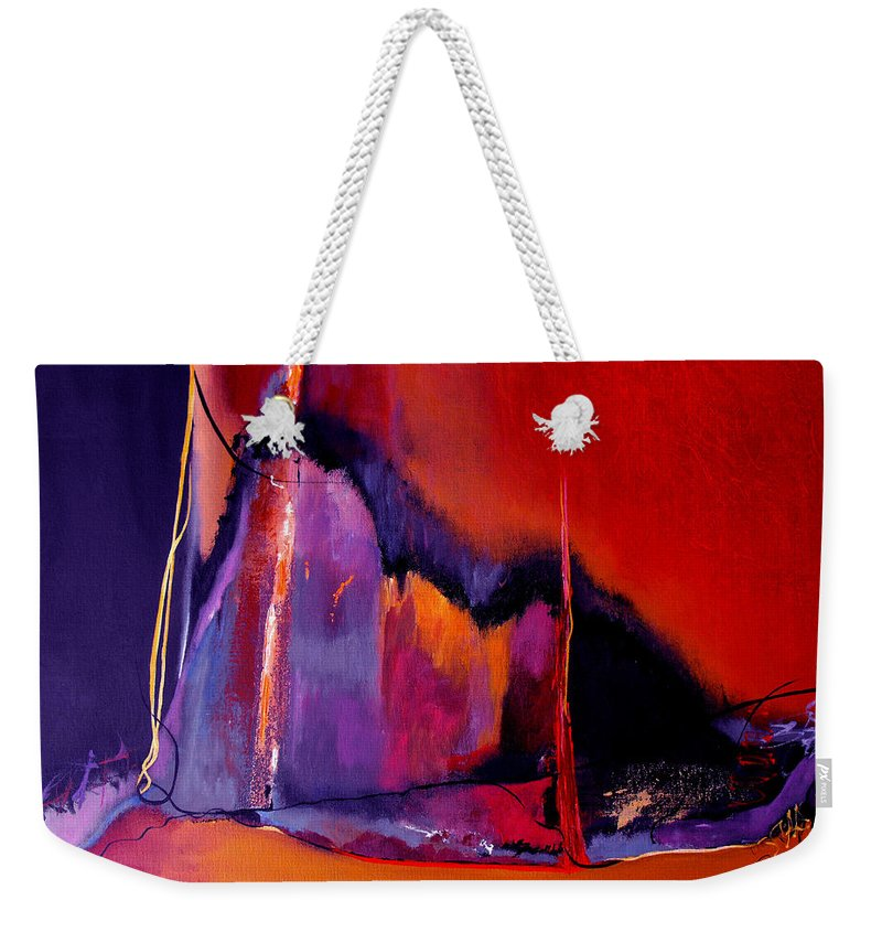Christian Weekender Tote Bag featuring the painting Earthquakes In Divers Places by Ruth Palmer