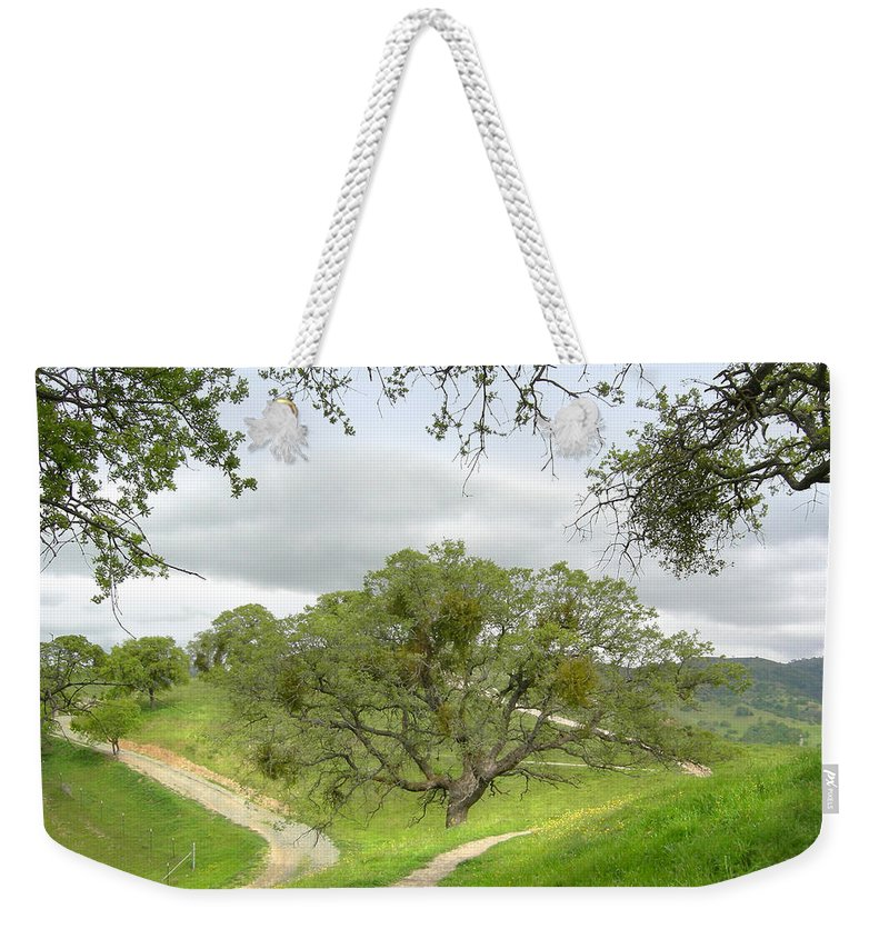 Landscape Weekender Tote Bag featuring the photograph East Ridge Trail - Spring by Karen W Meyer