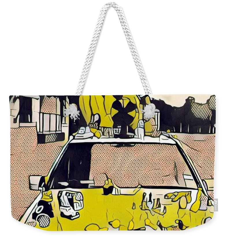 East Side Weekender Tote Bag featuring the photograph East Side Electric by Cherylene Henderson