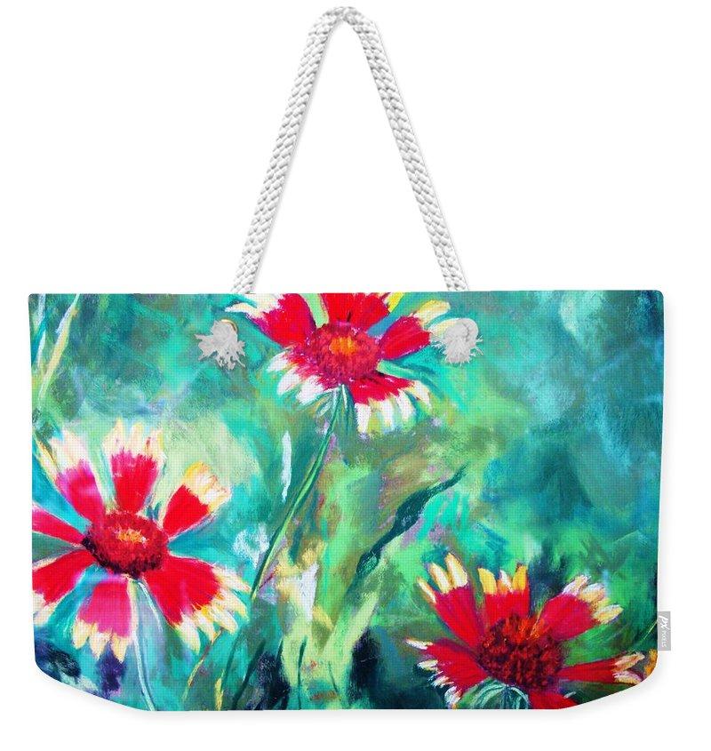 Flowers Weekender Tote Bag featuring the painting East Texas Wild Flowers by Melinda Etzold