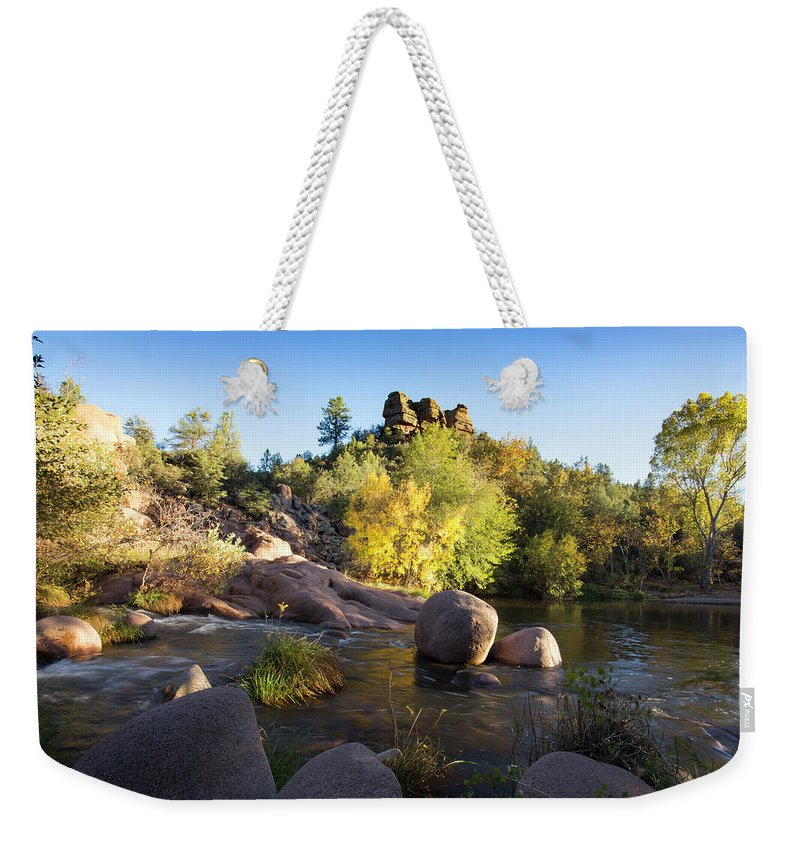 Arizona Weekender Tote Bag featuring the photograph East Verde Revisited by Cathy Franklin