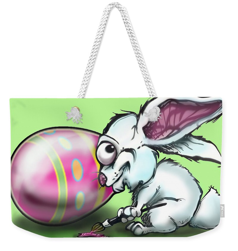 Easter Weekender Tote Bag featuring the digital art Easter Bunny by Kevin Middleton