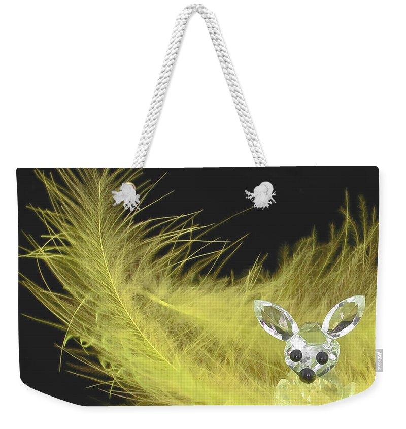 3d Weekender Tote Bag featuring the photograph Easter Bunny by Svetlana Sewell