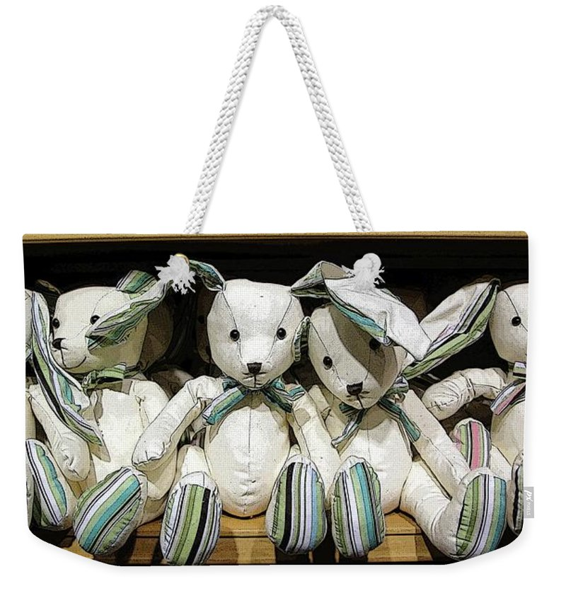 Rabbits Weekender Tote Bag featuring the photograph Easterganger by Ron Bissett