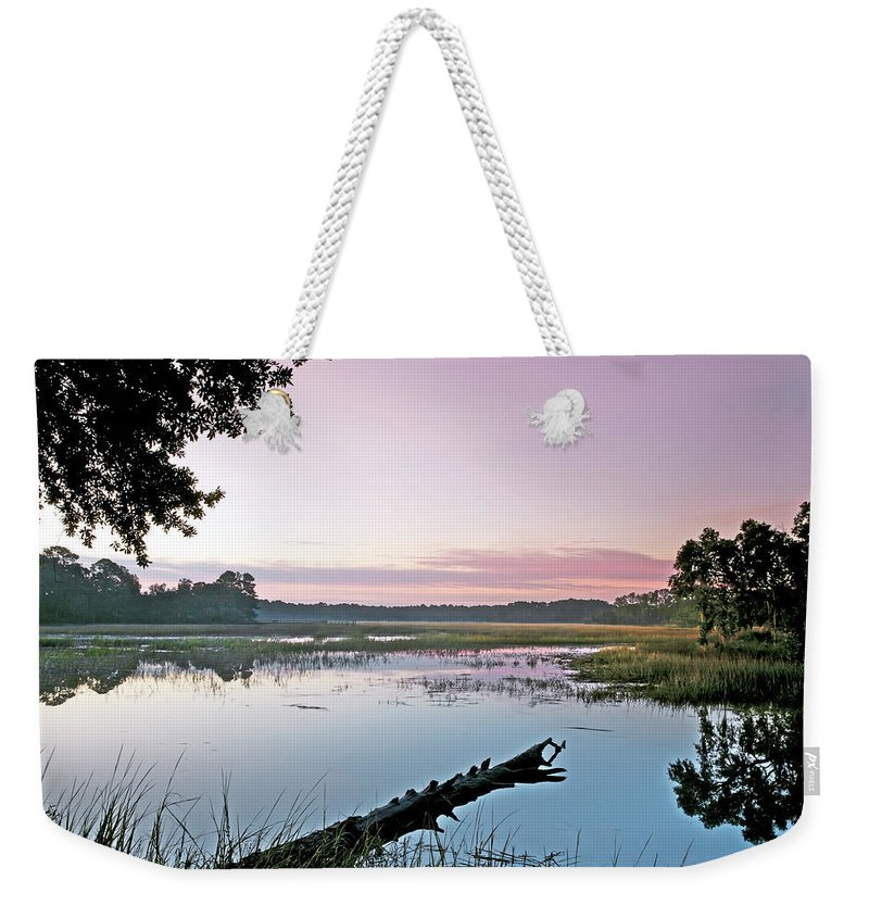 Color Weekender Tote Bag featuring the photograph Eastern Morning by Phill Doherty